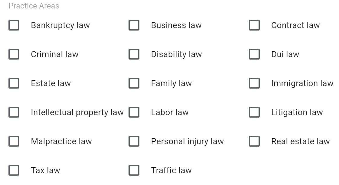 attorney options for local service ads