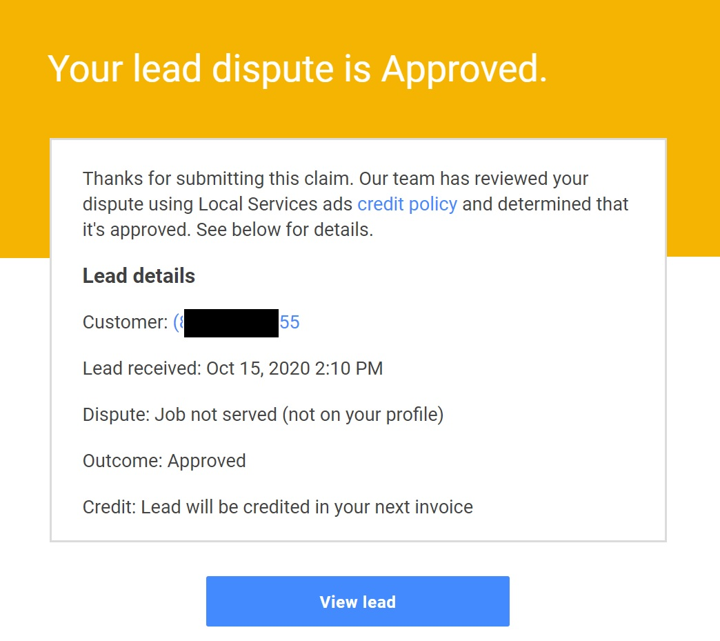 LSA dispute approved