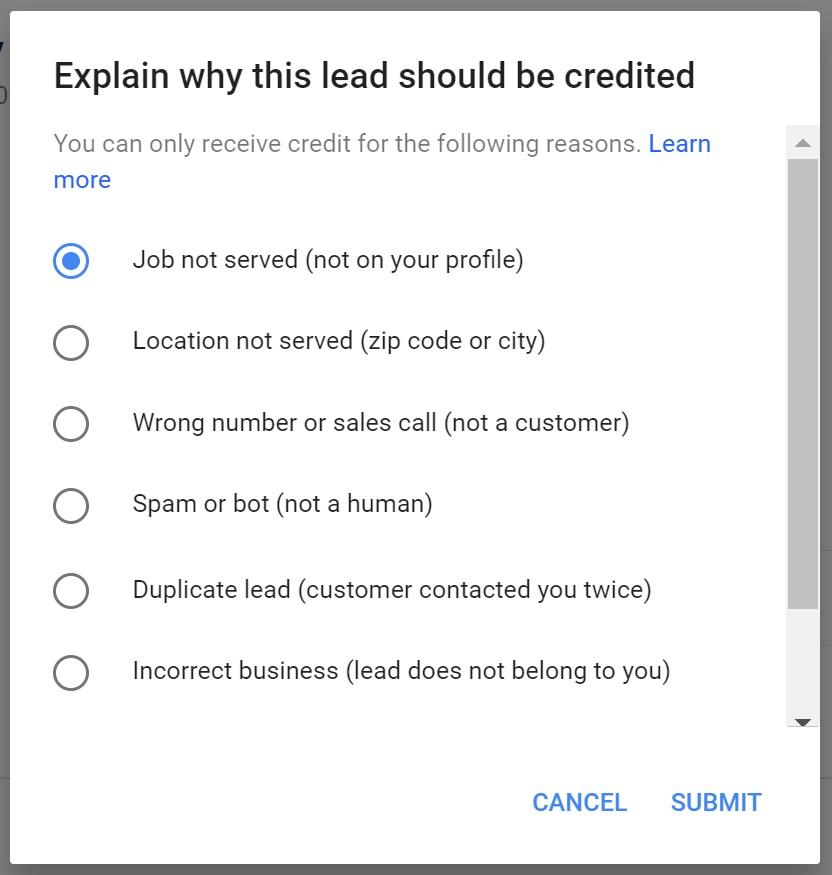 LSA dispute options
