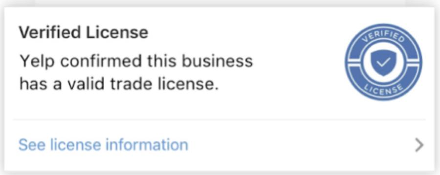 yelp verified badge
