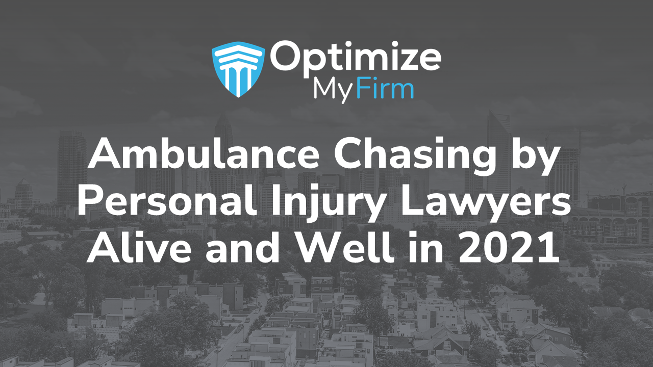 ambulance chasing tactics - blog image